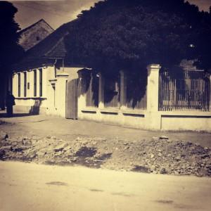Kuća i građara Eugena Lustiga oko 1930. g.