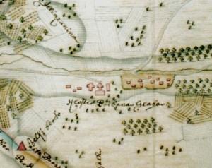 Plan manastira Privina Glava iz vremena jeromonaha Mojseja Plavšića